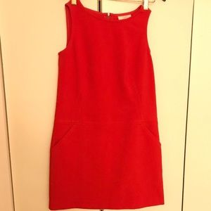 Women's Loft Red Dress With POCKETS!, Size - 4